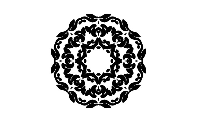 Ornamental decorative mandala with star in the middle