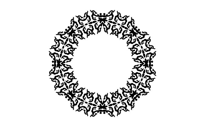 Decorative ornament resembling a garland