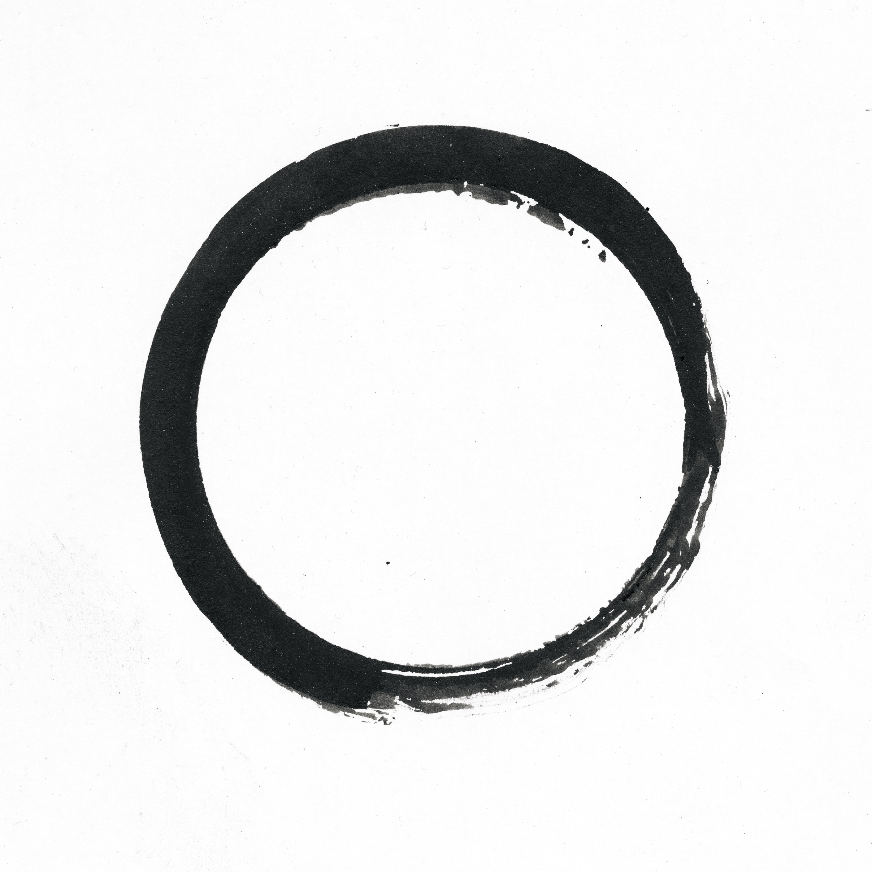 Black And Gold Painted Circle Stock Image