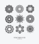 Texture Fabrik - Decorative mandala vector graphics