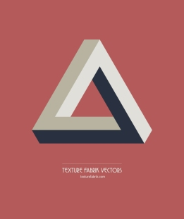 Texture Fabrik - Penrose triangle geometric vector graphic
