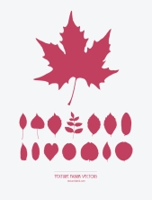 Texture Fabrik - Leaf silhouette vector graphics