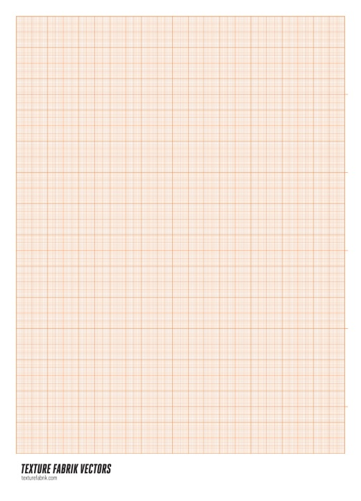 Line grid of orange millimeter paper