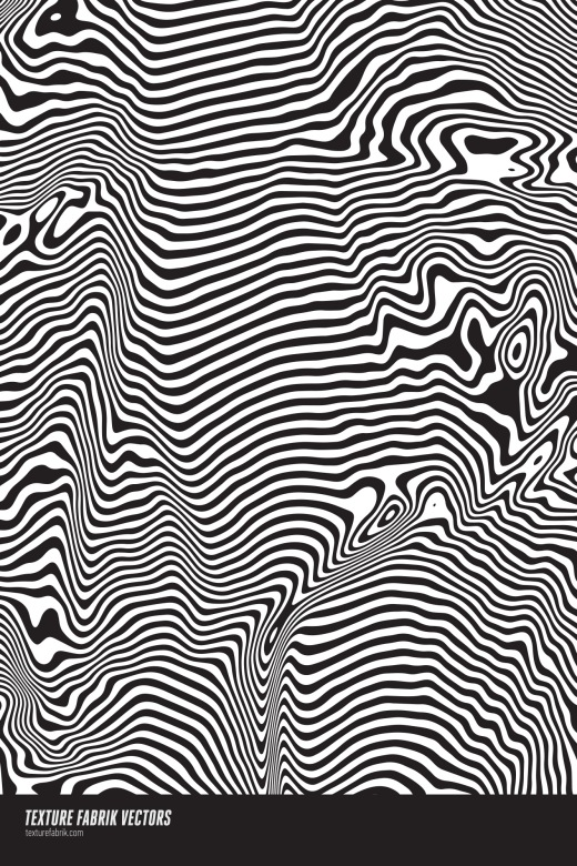 Op art pattern with distorted lines