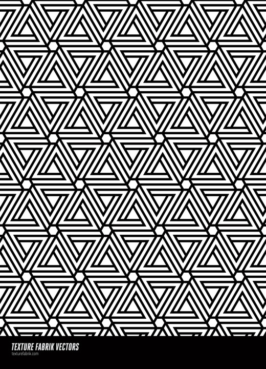 "Pattern made of ""impossible"" triangle shapes"