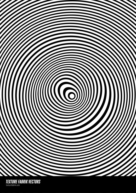 Pattern design with glitched concentric circles