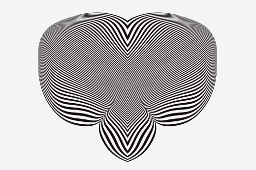Op art design made with black and white lines