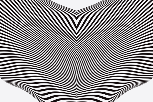 Detail of a minimal, op art design
