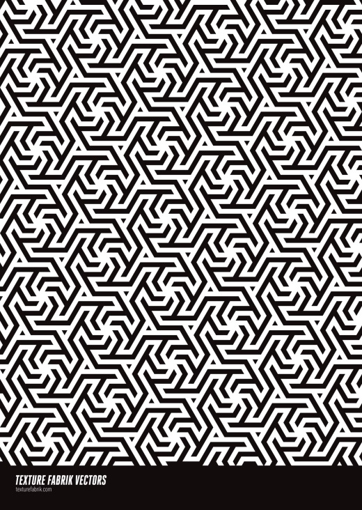 Design of a complex Islamic pattern in black and white
