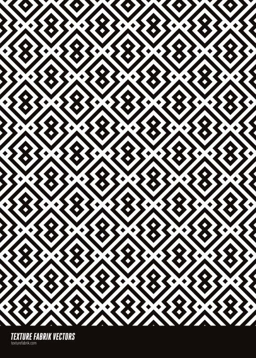Seamless Islamic Pattern in black and white