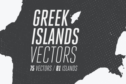 Cover with Greek island silhouette map