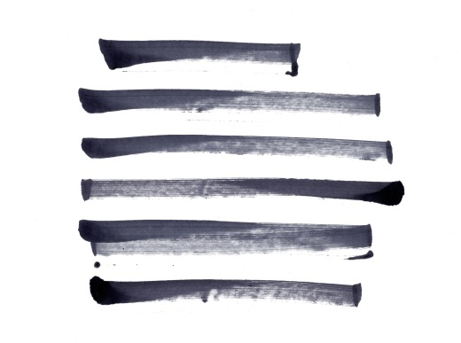 Black ink marker brushes