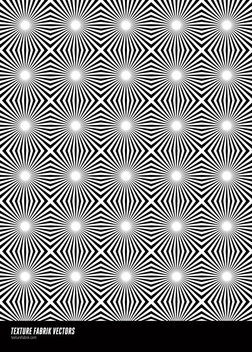 Op art style, ray pattern in black and white