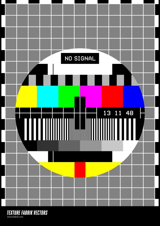 Colourful, no signal RGB television chart